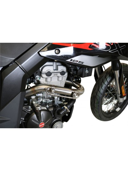 ORIGINAL GPR EXHAUST FOR UM MOTORCYCLES DSR SM - EX 125 2018/20 e4 DECAT PIPE MANIFOLD  DECATALIZZATORE