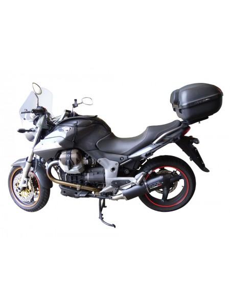 ORIGINAL GPR EXHAUST FOR MOTO GUZZI BREVA 1100 4V 2005/10 HOMOLOGATED SLIP-ON EXHAUST  FURORE NERO
